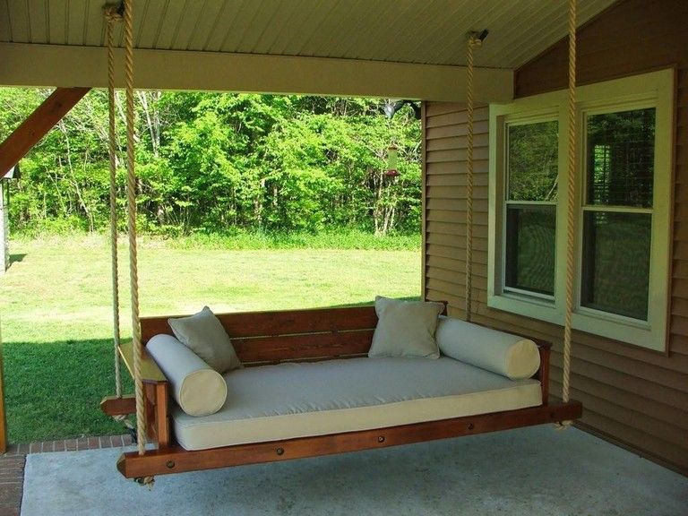 Free Diy Porch Swing Plans Ideas To Chill In Your Front Porch Porch Swing Bed Outdoor Hanging Bed Porch Swing