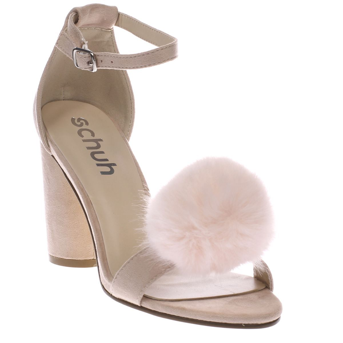 womens schuh pale pink fluffy high heels  80a91a879