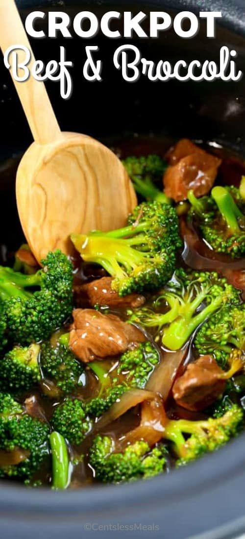 CrockPot Beef and Broccoli {Easy Weeknight Meal!) - CentsLess Meals #beefandbroccoli