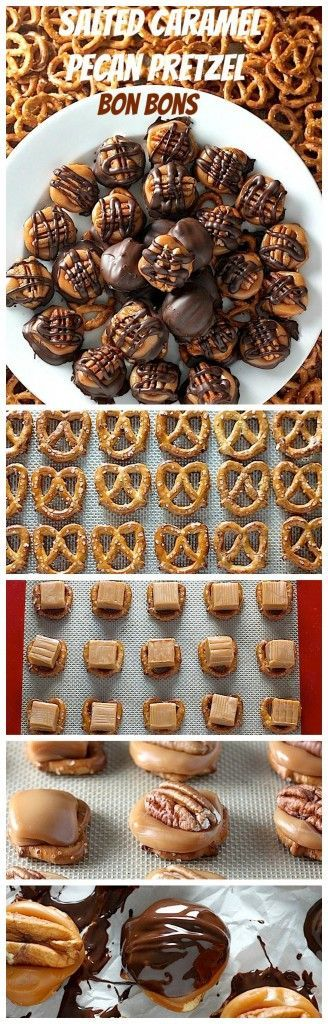 Salted Caramel Pretzel Pecan Bon Bons Salted Caramel Pretzel Pecan Bon Bons - These are incredibly delicious and SO easy to make!