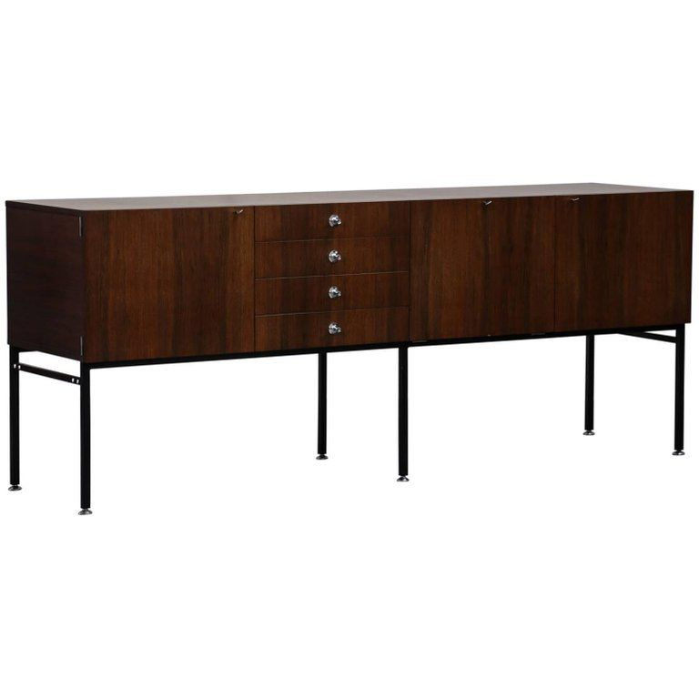 Rare Alain Richard Large Sideboard For Meuble Tv 1950s French