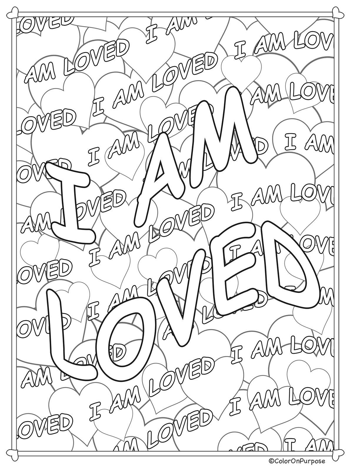 Adult Coloring Pages Printable Core Belief Affirmations