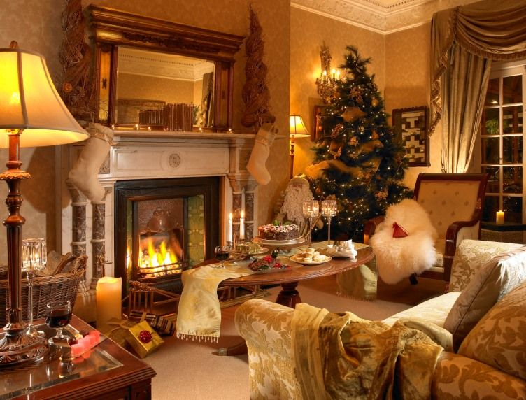 Treat Your Loved Ones To The Ultimate Christmas Getaway Enjoy The Wonderful Warm Surrounds Of Christmas Living Rooms Small Luxury Hotels Christmas In Ireland