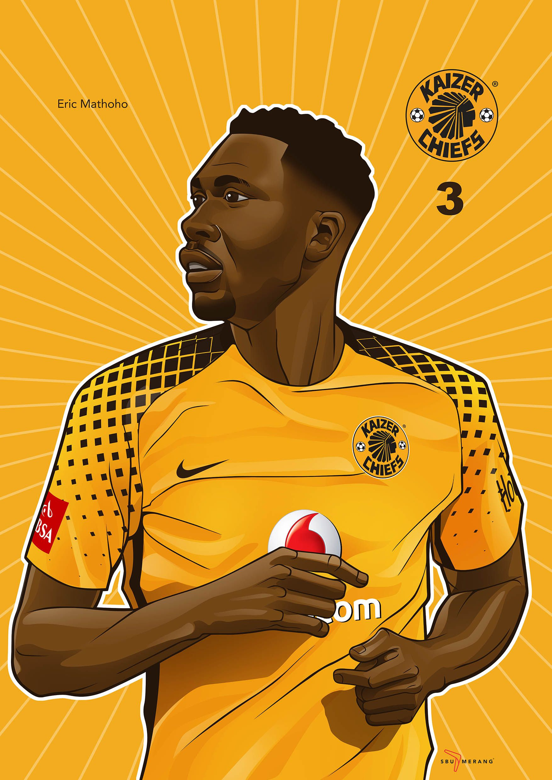 Iwisa Kaizer Chiefs Players Poster Collection Eric Mothoho  e62f5569c
