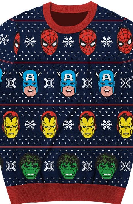 avengers sublimated faux christmas sweater marvels avengers are the celebrities of films and videos and the colorful design brings the popular super
