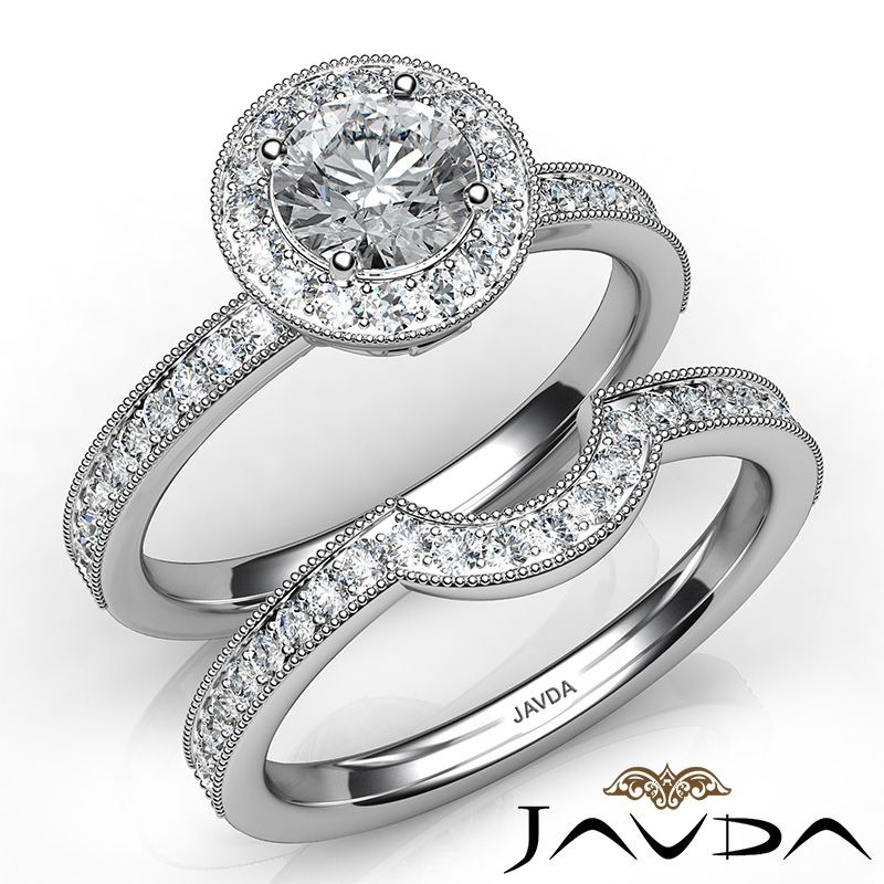Round Diamond Engagement Ring Certified by GIA, I Color & VVS2 clarity, 14k White Gold (1.56 ct. Total weight.)