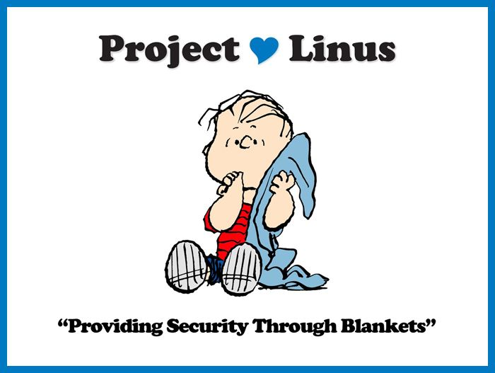 Project Linus logo and slogan