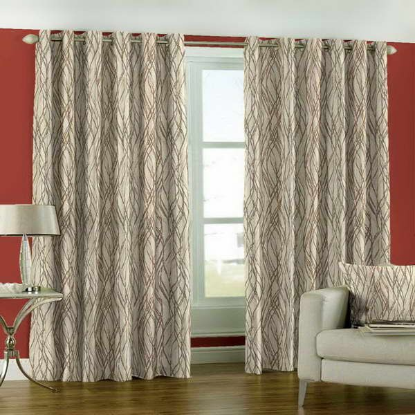 curtains with red wall | ... Formal and Informal Room: Curtain Styles With