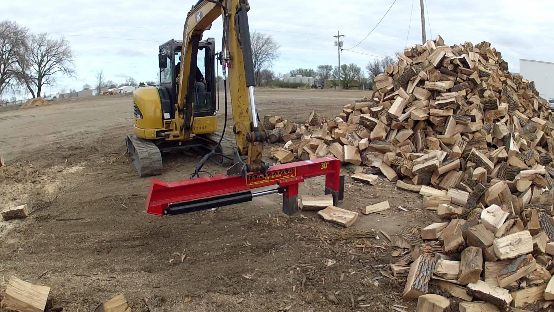 mini excavator with wood splitter | wood splitters in 2019