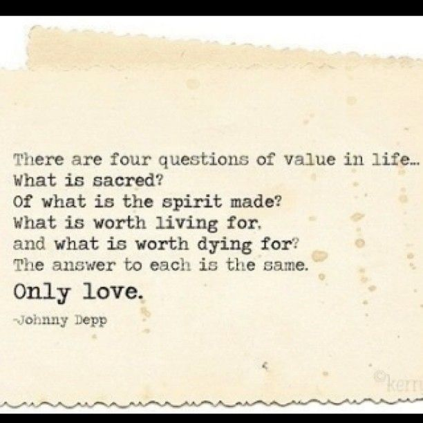 Johnny Depp quote from the movie Don Juan DeMarco