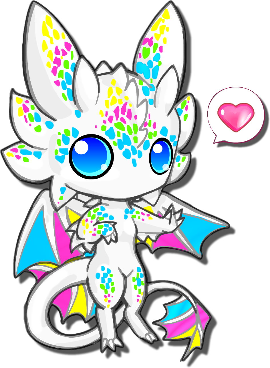 small resolution of chibi cute white dragon clipart best clipart best