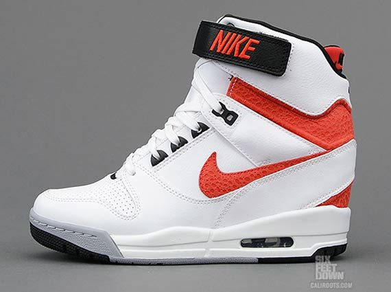 sneakers for cheap b87db 8654f Nike WMNS Air Revolution Sky High - White - University Red - SneakerNews.com