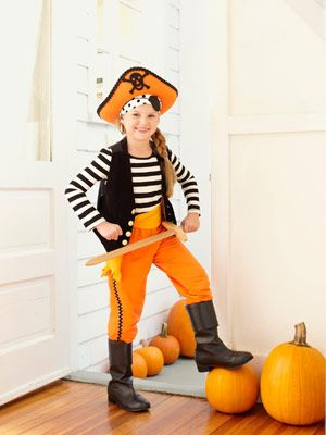 Kids Pirate Halloween Costume - DIY Pirate Costume - Good Housekeeping  sc 1 st  Pinterest & Last-Minute Kidu0027s Halloween Costume | Pinterest | Diy pirate costume ...