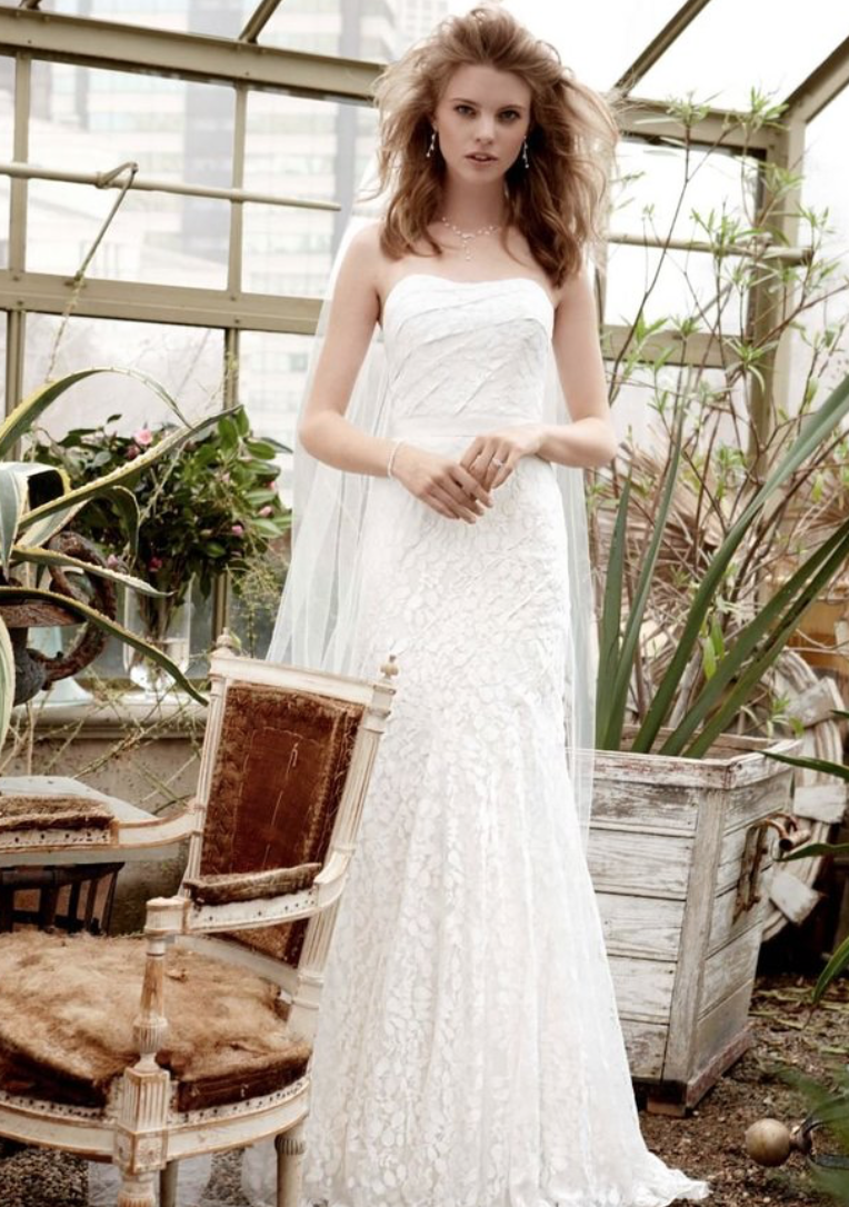 Sample size 10 & 14. Strapless Lace Wedding Dress. $300 USD