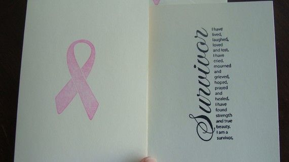 Survivor Breast Cancer Cards by kristinkaycreations on Etsy
