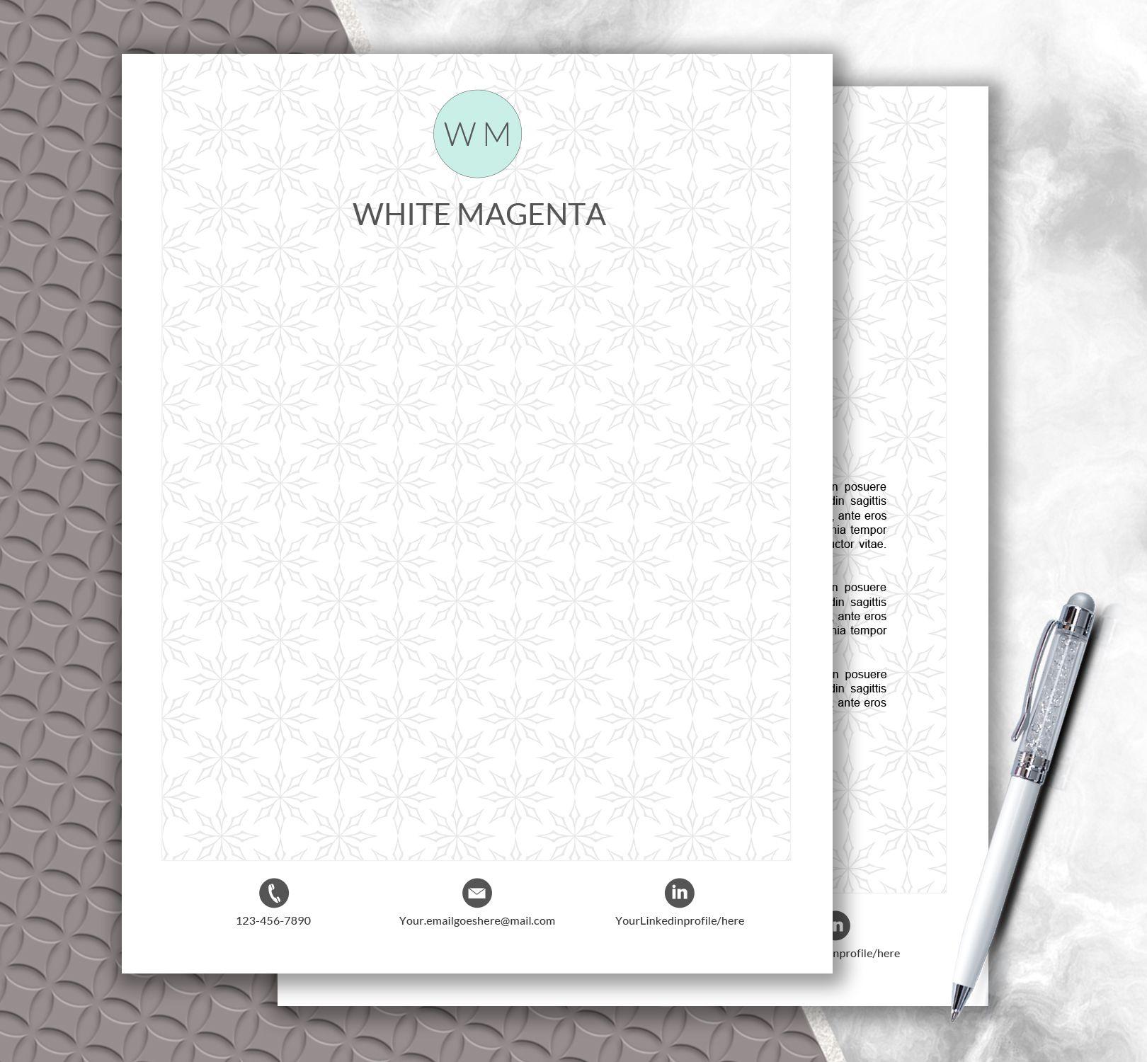 Pattern Letterhead Template Fashionable Design