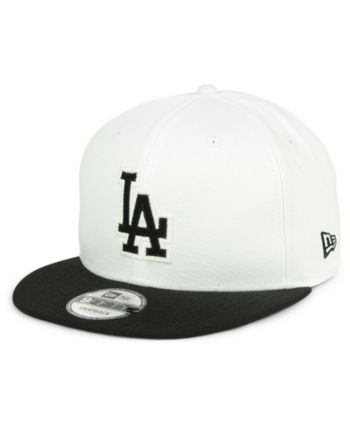 promo code 0413f 26de3 New Era Los Angeles Dodgers Jersey Hook 9FIFTY Snapback Cap - White Black  Adjustable