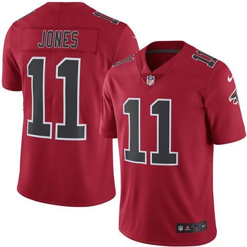 af2b7a9f4 Youth Nike Atlanta Falcons #11 Julio Jones Red NFL Limited Color Rush Jersey