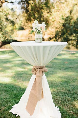 Rustic Cocktail Table Burlap Wedding Cocktail Tables