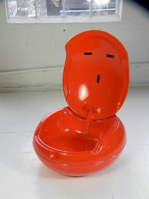 Peter Ghyczy 60s Fiberglass Garden Egg Chair Midcentury ,eames Panton Era,  Mod, Vintage, 70s,60s, Chair, Fiberglass, Orange #023