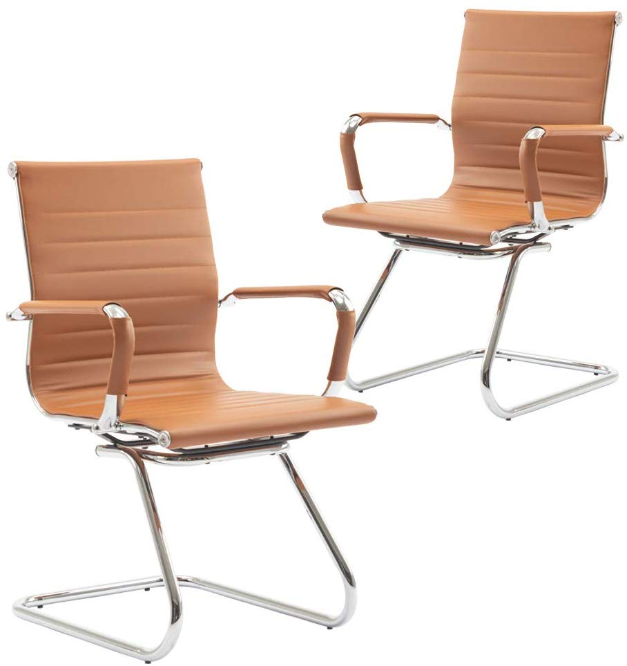 Wahson Heavy Duty Leather Office Guest Chair