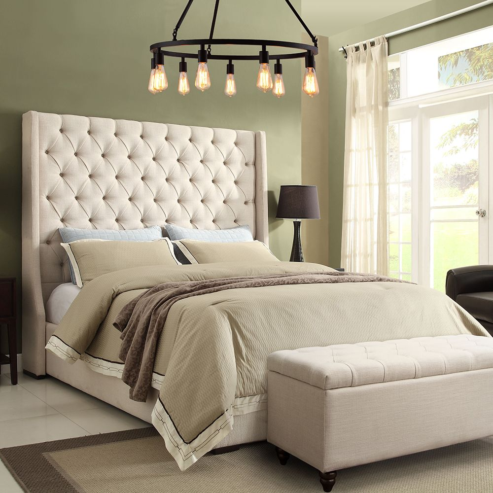 Best Diamond Sofa Parkavesdqubed Park Avenue Queen Bed Tall 400 x 300