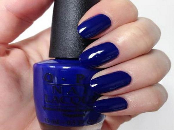 11 Nice Navy Blue Nail Designs   4. Double Team + Dynamicpunch Blue ...