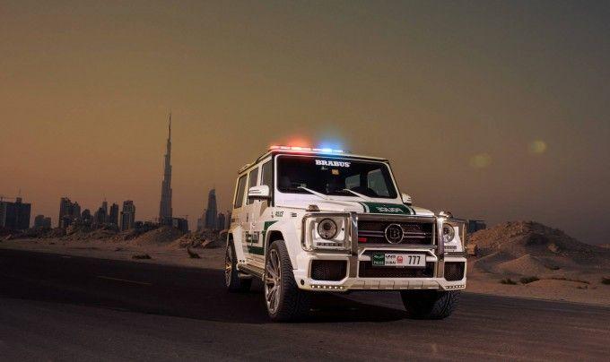 Dubai Gets Brabus G63s 700 Widestar Police Cruiser Mercedes Benz