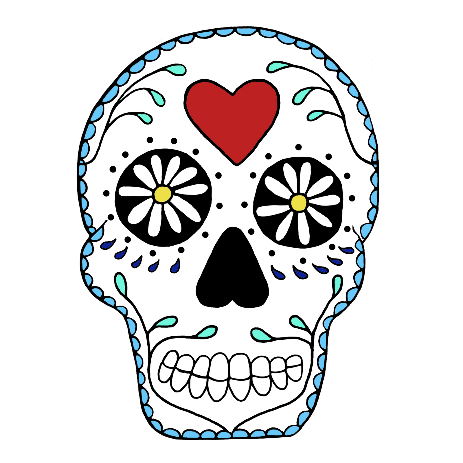 simple sugar skull clip art white clipart free clipart painted rh pinterest com  simple skeleton clipart