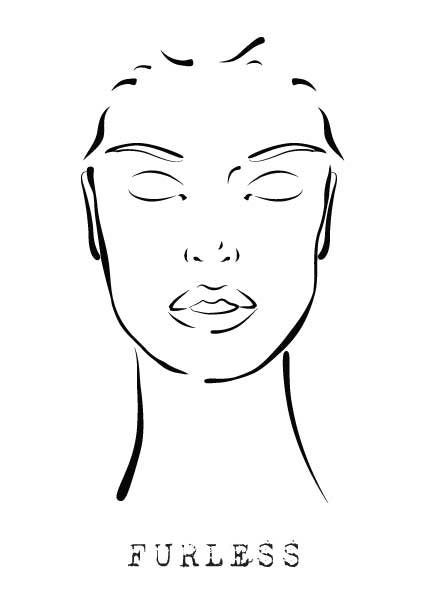 photo about Printable Mac Face Charts identified as Free of charge Facial area Style and design Make-up TEMPLATES - Furless Theatrical