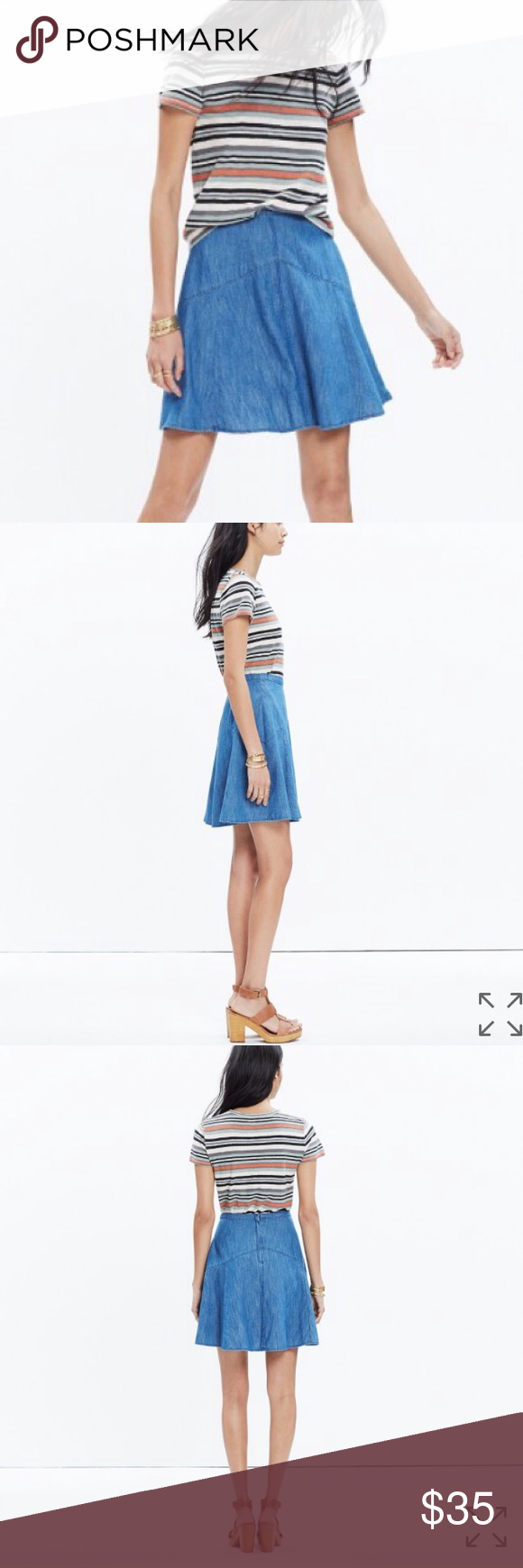 Madewell Denim Skirt New Madewell skirt! Cute and lightweight for summer or even with a chunky sweater and tall boots for winter! Madewell Skirts