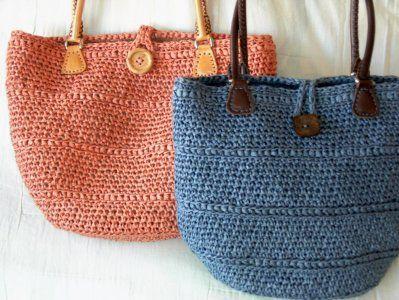 Paper Raffia Bag In The Round A M E Nolfi Design Crochet Asylum