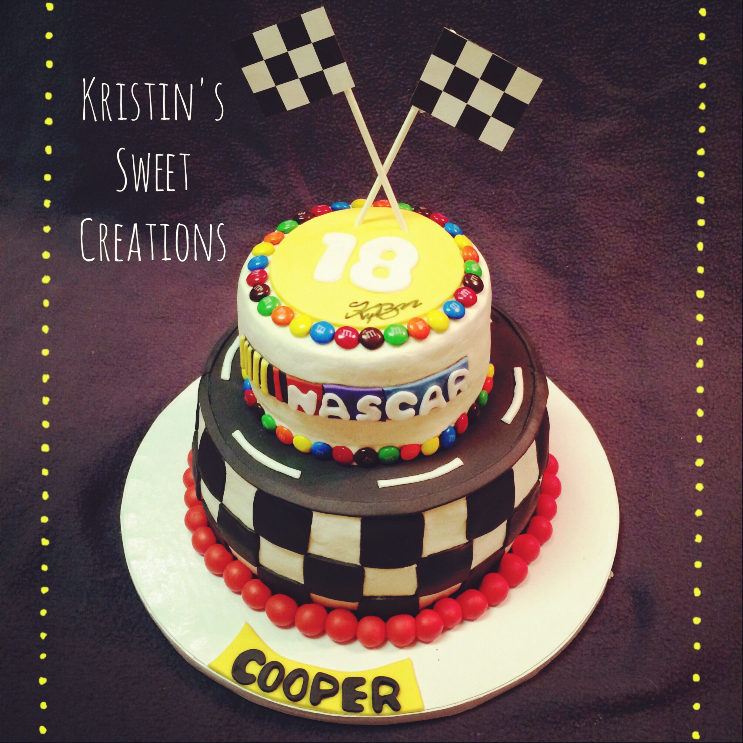 Nascar And Kyle Busch Cake Kristin' Sweet Creations In