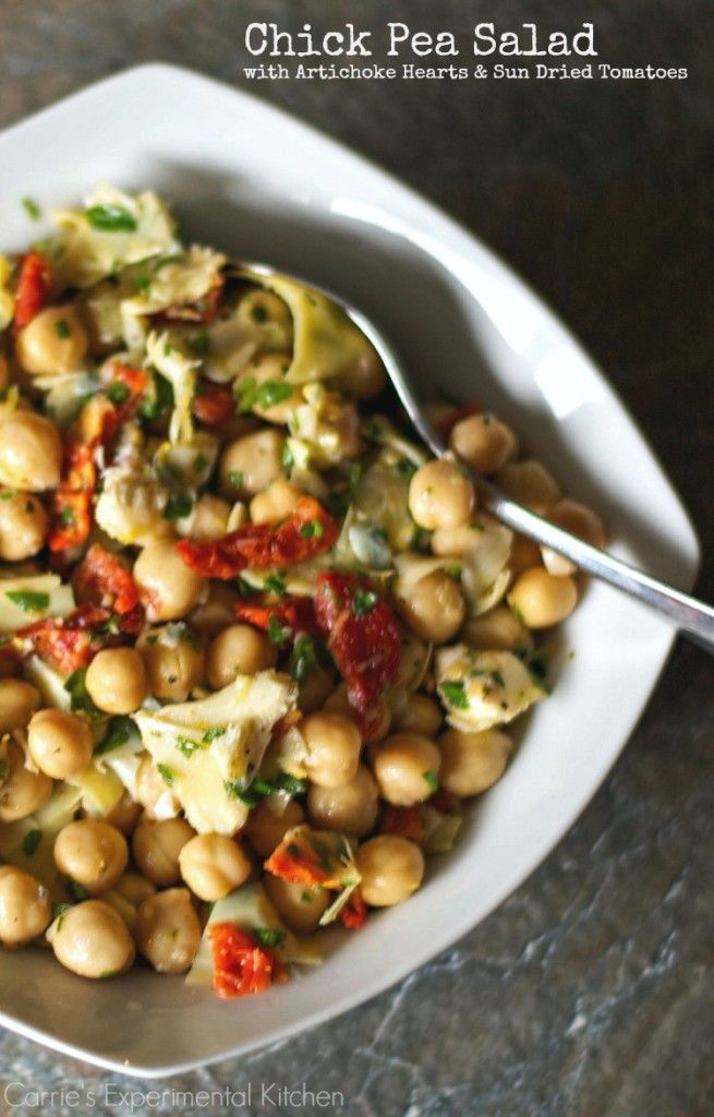 Chick Pea Salad With Artichoke Hearts Sun Dried Tomatoes