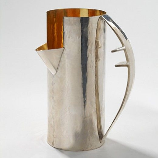 Carlo Scarpa, Sterling Silver Pitcher for Cleto Munari, 1986.