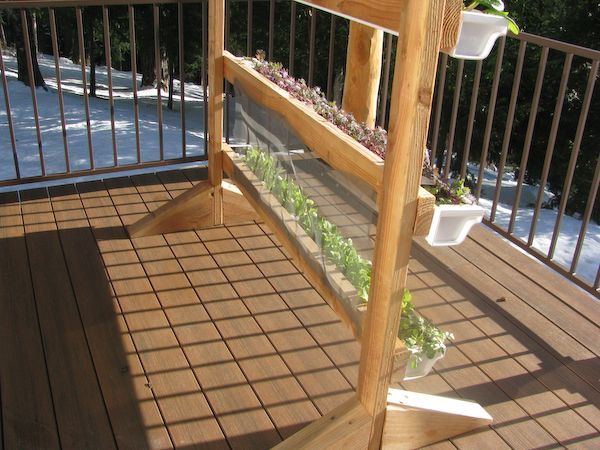 Vertical Gutter Gardens   Would Be Great On Our Deck! Could Actually Attach  Gutter To
