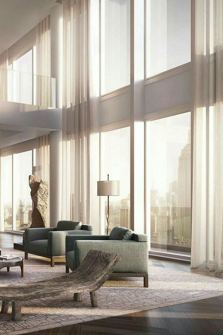 cool modern luxury penthouse living room | Pin by Dennis Araujo on Condo Ideas | Pent house, Luxury ...