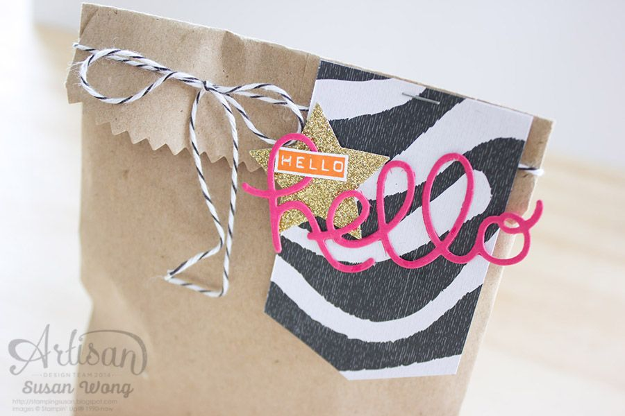 Tag a Bag with Go Wild DSP ~ Susan Wong
