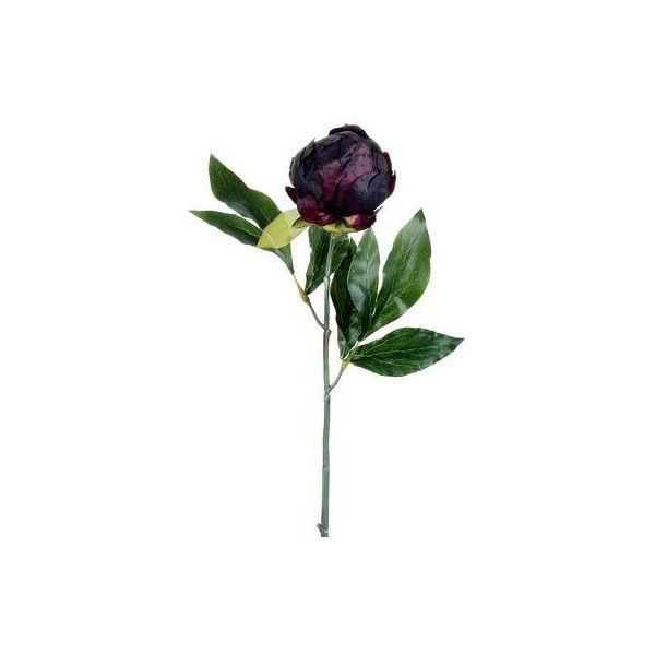 "19"" Decor Peony Bud Spray Eggplant ❤ liked on Polyvore featuring home and home decor"