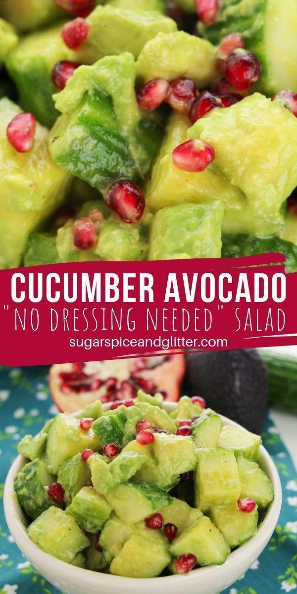 Ein supereinfacher Gurken-Avocado-Salat, der ohne Dressing auskommt, weil der Avocado ... Ein super
