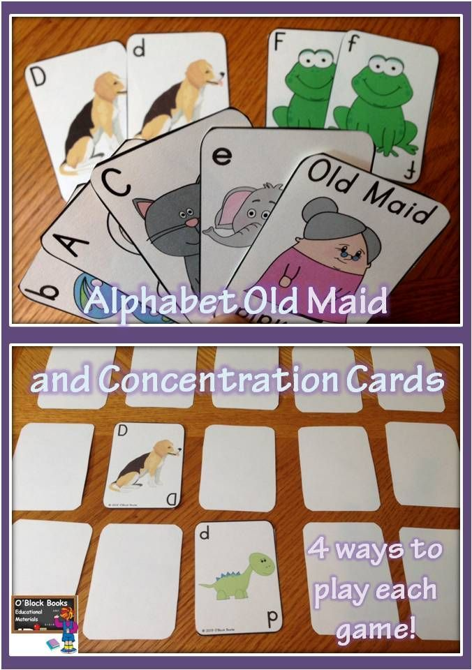 Alphabet Old Maid & Concentration Cards (Uppercase & Lowercase ...