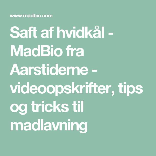 Saft af hvidkål - MadBio fra Aarstiderne - videoopskrifter, tips og tricks til madlavning