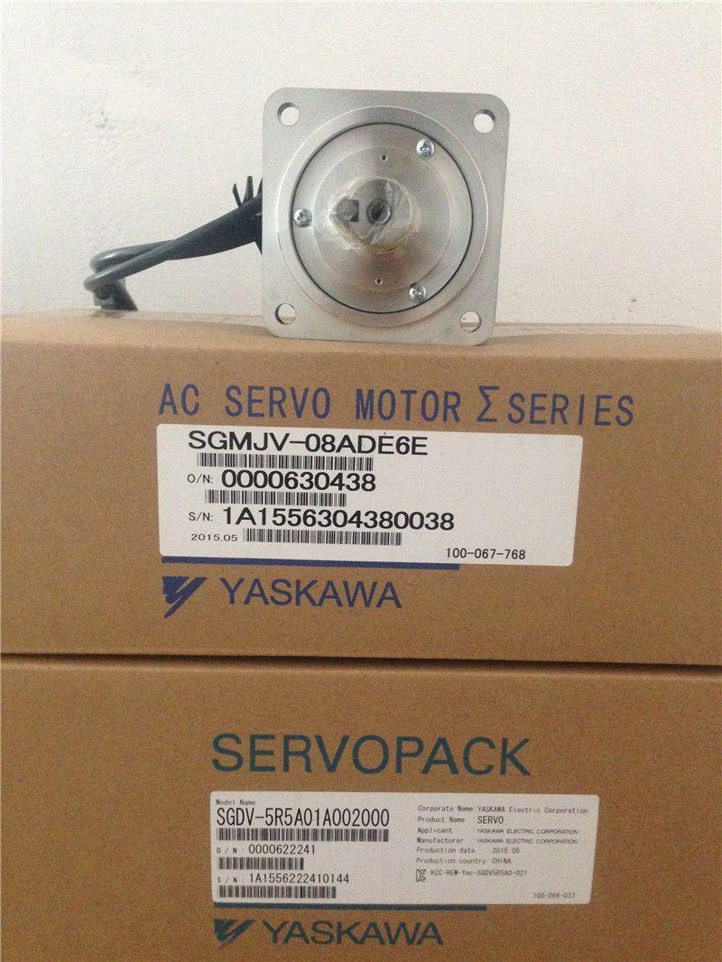 SGMJV-08ADE6E+SGDV-5R5A01A 750w 3000rpm 2 39N m 80mm AC