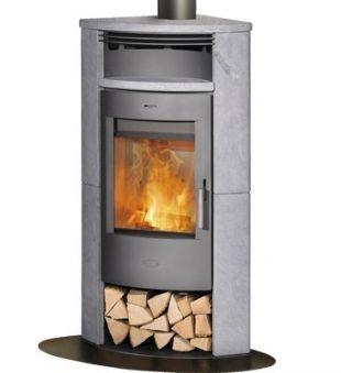 Eck Kaminofen kaminofen eckkaminofen fireplace malta speckstein gussgrau 6kw