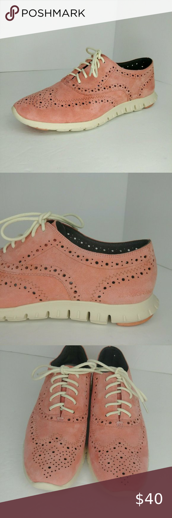 Cole Haan Zerogrand Grand.OS Pink Suede