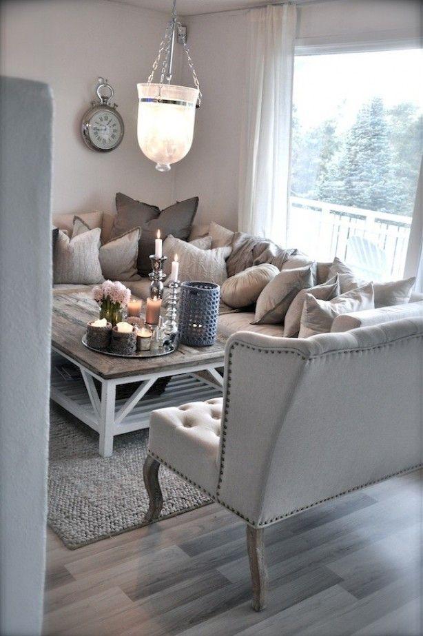 landelijke stijl woonkamer, sfeervol en gezellig   Ideeën voor het ...