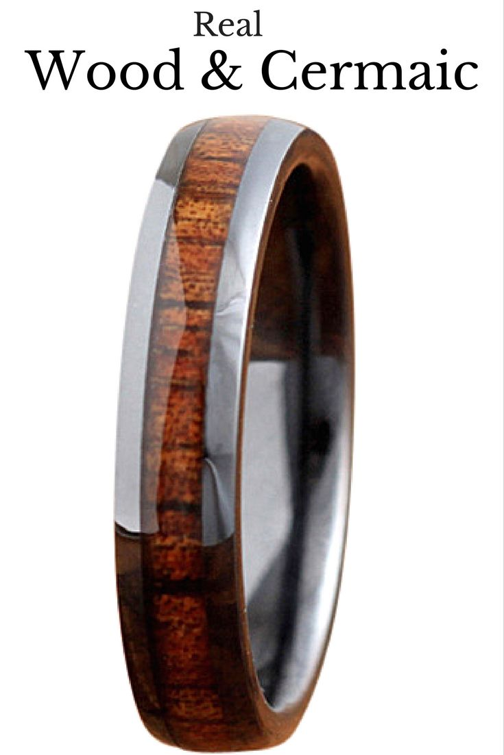 4mm High Tech Ceramic Koa Wood Ring Ring Weddings and Wedding