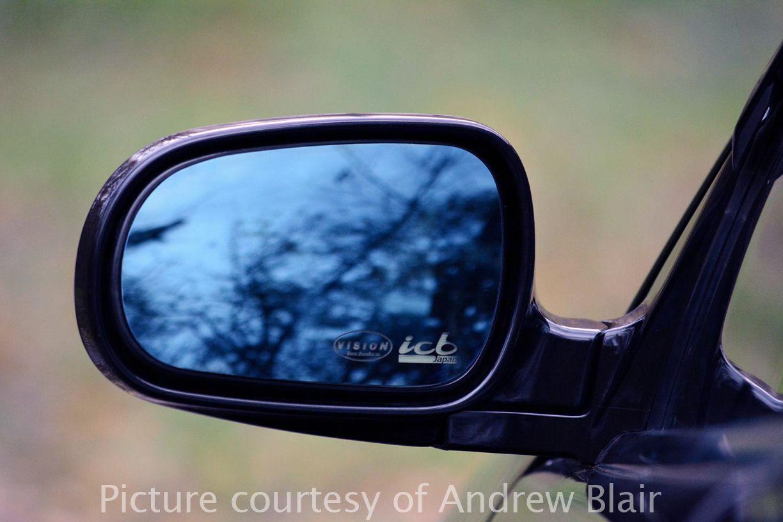 Vision Technica X Icb Japan Blue Wide Side Mirror Honda Civic Ep3 02 05 Fits Jdm Edm Only Honda Civic Side Mirror Car Mirror