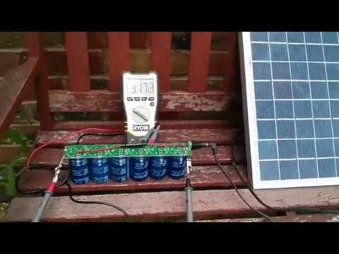 Supercapacitors 500f X 6 And Solar Panel 15w Youtube Solar Energy Projects Solar Power Energy Solar Power Diy