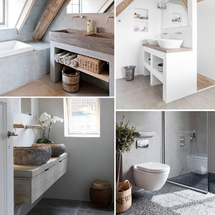 Foto: Mooie Badkamers bewerkt met natuurlijke materialen en ...